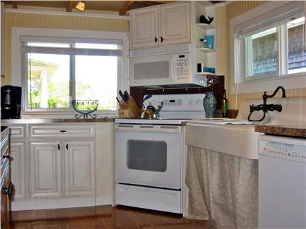 Oak Bluffs Martha's Vineyard vacation rental - Kitchen, with view of park and harbor