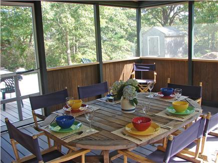 West Tisbury, Stoney Hill Lane Martha's Vineyard vacation rental - Enjoy summer meals on screened porch adjacent to deck