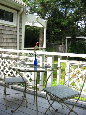 Oak Bluffs Martha's Vineyard vacation rental - Bistro seating off of the family room french doors