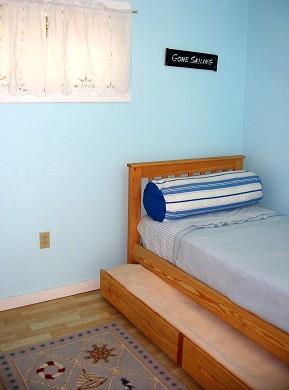 Oak Bluffs Martha's Vineyard vacation rental - 3 of 3 bedrooms; comfy twin bed & trundel sleeps 1 adult & child