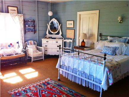 Chappaquiddick, Edgartown Martha's Vineyard vacation rental - Blue Bedroom overlooking the water