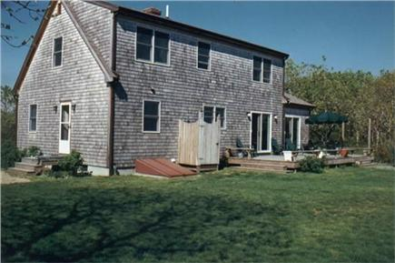 West Tisbury Martha's Vineyard vacation rental - Private outdoor shower and large back yard