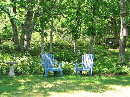 West Tisbury Martha's Vineyard vacation rental - Spacious back yard has many tranquil places to sit and unwind