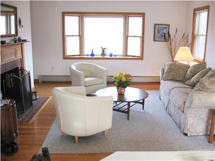 West Tisbury Martha's Vineyard vacation rental - Comfortable living room overlooking flower garden