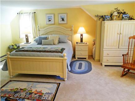 Edgartown Martha's Vineyard vacation rental - Queen size Master bedroom upstairs, with TV