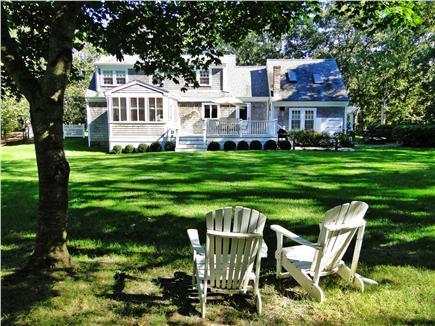 Edgartown Martha's Vineyard vacation rental - Room to play and relax in the back yard, deck, outdoor shower