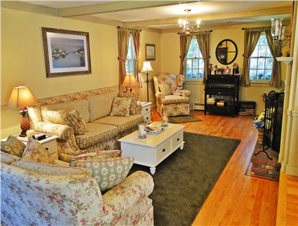 Edgartown Martha's Vineyard vacation rental - Charming décor, living room with fireplace