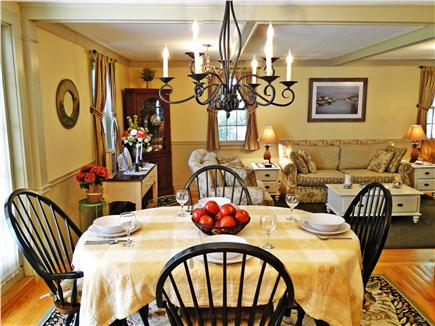 Edgartown Martha's Vineyard vacation rental - Dining area with French doors to sun porch