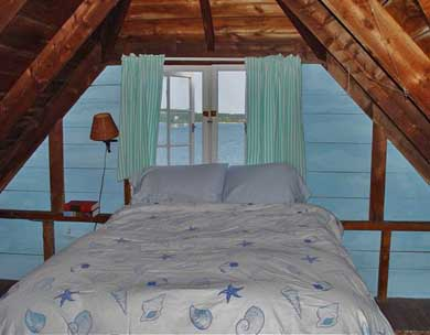 Oak Bluffs Martha's Vineyard vacation rental - Double bedroom above the kitchen with views of VH harbor