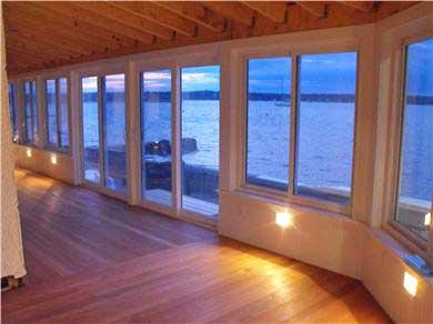 Oak Bluffs Martha's Vineyard vacation rental - Sunset view from the rebuilt waterside porch