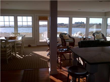 Katama - Edgartown, Edgartown Craxatucket Cove  Martha's Vineyard vacation rental - Renovated living/dining room area with views of pond and beach