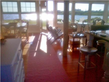 Katama - Edgartown, Edgartown Craxatucket Cove  Martha's Vineyard vacation rental - Front entry view through living/dining area