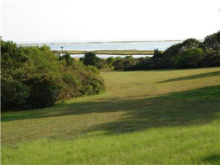 Chappaquiddick, Edgartown Martha's Vineyard vacation rental - View from house of lawn and beach. View of southern shore beaches