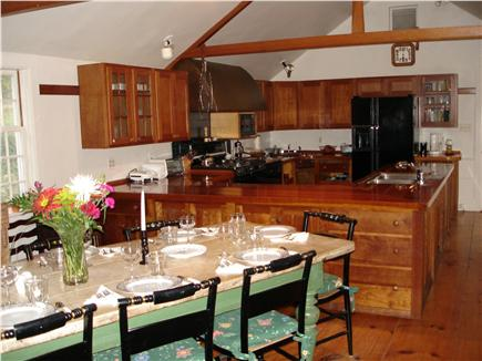 Chappaquiddick, Edgartown Martha's Vineyard vacation rental - Fully equipped chef's kitchen with cherry counters and cabinets
