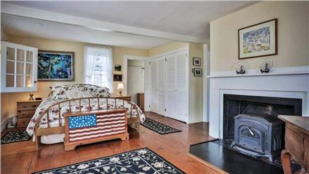 Chappaquiddick, Edgartown Martha's Vineyard vacation rental - Master bedroom leads to porch with water views. Private full bath