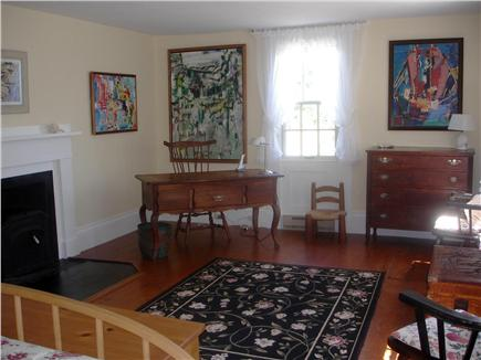 Chappaquiddick, Edgartown Martha's Vineyard vacation rental - Ample master bedroom with study has lovely views of lawn and bay