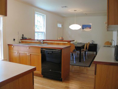 West Tisbury Martha's Vineyard vacation rental - From kitchen toward dining room with Nelson Bubble Lamp!