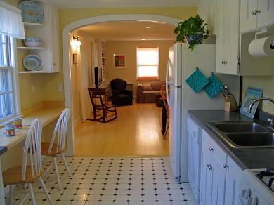 Vineyard Haven Martha's Vineyard vacation rental - Kitchen to living room