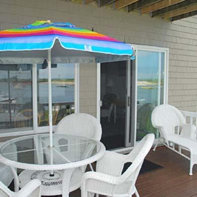 Oak Bluffs Martha's Vineyard vacation rental - Deck and sliders offer magnificent water views