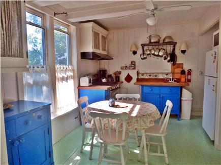 Oak Bluffs, Historic Copeland District Martha's Vineyard vacation rental - Farmhouse Kitchen with French Doors to Back Deck