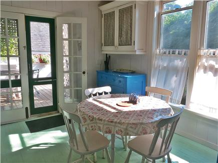 Oak Bluffs, Historic Copeland District Martha's Vineyard vacation rental - Eat-in Kitchen to back deck with grill