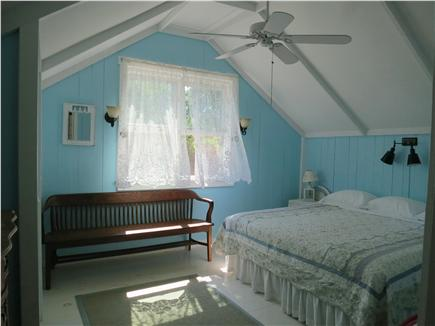 Oak Bluffs, Historic Copeland District Martha's Vineyard vacation rental - Master Bedroom Overlooking Private Backyard