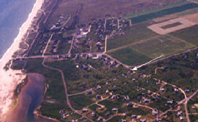 Katama - Edgartown, Edgartown Martha's Vineyard vacation rental - Aerial view of our house, our neighborhood & south beach