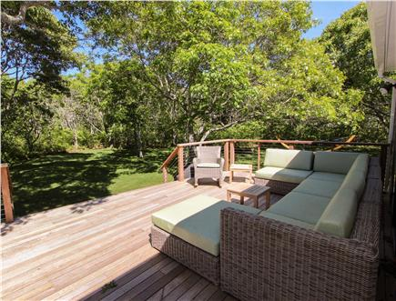 Katama - Edgartown, Edgartown Martha's Vineyard vacation rental - End your day relaxing on the long, private deck