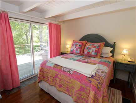 Katama - Edgartown, Edgartown Martha's Vineyard vacation rental - Queen bedroom with slider to deck, full bath across hall