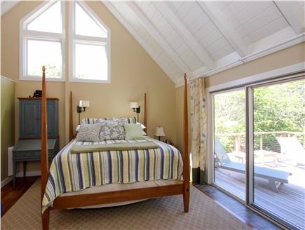 Katama - Edgartown, Edgartown Martha's Vineyard vacation rental - Gorgeous master bedroom w/king bed, full bath & sliders to deck