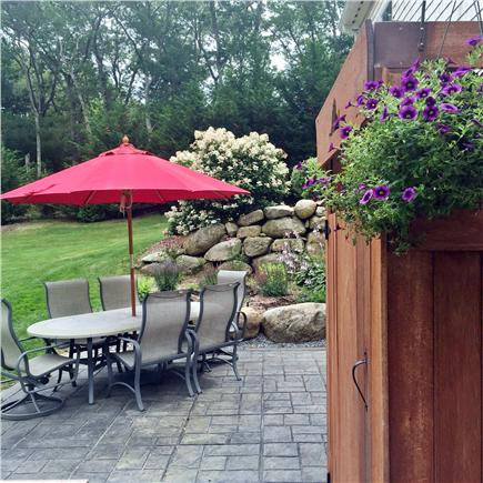 Vineyard Haven Martha's Vineyard vacation rental - Bluestone patio, grill and spacious, private back yard