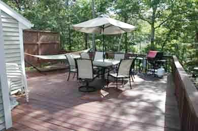 Vineyard Haven Martha's Vineyard vacation rental - Deck with gas grill and hammock