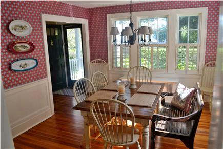 In Town Edgartown Martha's Vineyard vacation rental - Dining Room