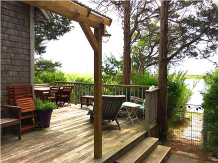 Oak Bluffs Martha's Vineyard vacation rental - Large porch with views of the pond and ocean.