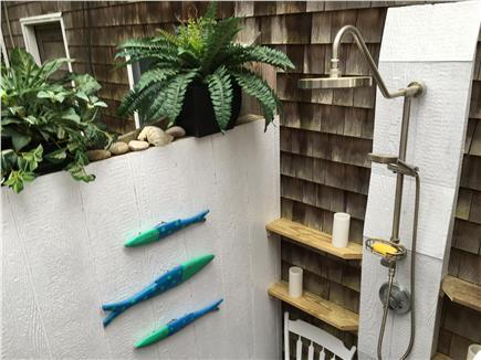 Oak Bluffs Martha's Vineyard vacation rental - Outdoor shower with Waterfall showerhead.