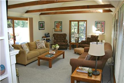 Edgartown Martha's Vineyard vacation rental - Spacious Living Room / Family Room with entertainment center