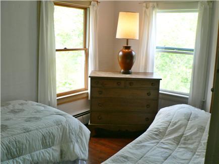 Vineyard Haven Martha's Vineyard vacation rental - Twin bedroom overlooking yard