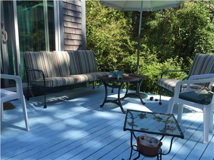 Vineyard Haven Martha's Vineyard vacation rental - Back deck