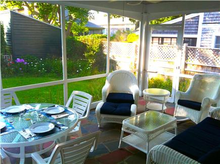 Edgartown Village Martha's Vineyard vacation rental - Enjoy coffee in the morning or cocktails in the evening on porch