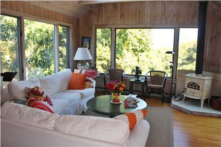 Aquinnah Martha's Vineyard vacation rental - Sunny living room
