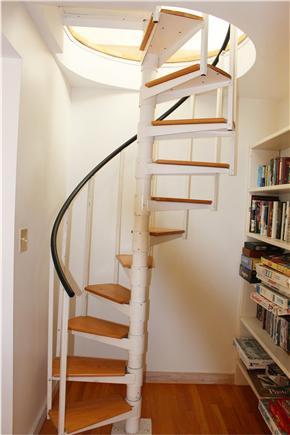 Aquinnah Martha's Vineyard vacation rental - Spiral Staircase leading to top floor bedroom