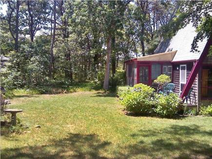 Edgartown Martha's Vineyard vacation rental - The private back yard is surrounded by woods