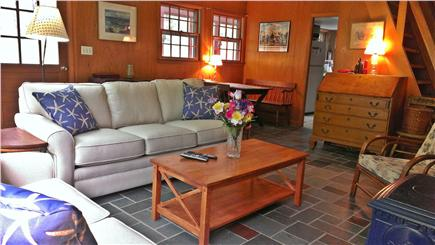 Edgartown Martha's Vineyard vacation rental - Living room/dining area w/access to screen porch/back deck/yard
