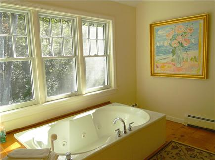 West Tisbury Martha's Vineyard vacation rental - Master suite bathroom with steam shower and Jacuzzi