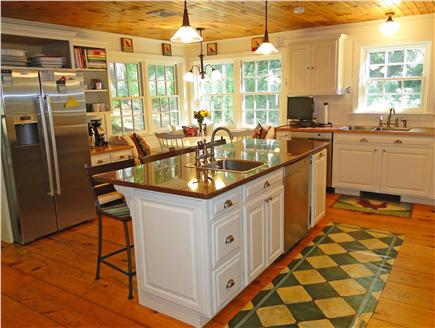 West Tisbury Martha's Vineyard vacation rental - Kitchen area with seating at breakfast bar and corner nook
