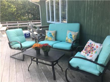 Oak Bluffs Martha's Vineyard vacation rental - Patio set on 3/4 wrap-around deck