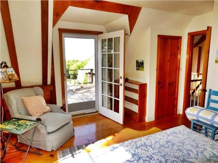 Aquinnah Martha's Vineyard vacation rental - Another view of the upstairs queen room, door to upper deck