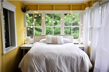 Oak Bluffs Martha's Vineyard vacation rental - Sunroom double bed - very airy and serene