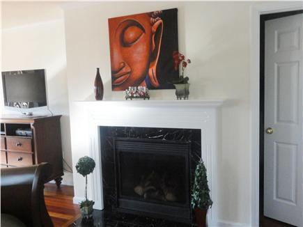 Oak Bluffs Martha's Vineyard vacation rental - 2nd floor master bd suite  Fire place and flat screen TV