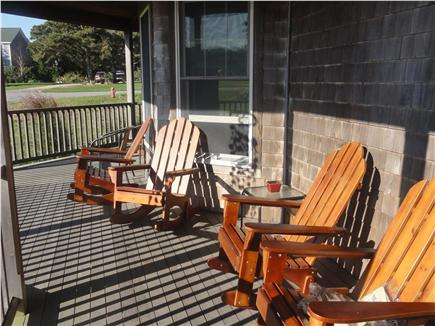 Oak Bluffs Martha's Vineyard vacation rental - Porch with Adirondack chairs, dining table and BBQ